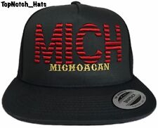 Michoacan MICH Gray And Red With Gold Trucker Hat Brand New Ships Now !!!