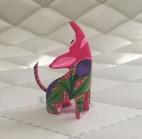 Alebrije Coyote Wood Mexican Folk Art Hand Made Carved Painted Figure