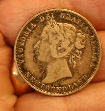 1882 NEWFOUNDLAND SILVER 50 CENT HALF DOLLAR COIN - CIRCULATED