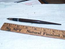 Sheaffer brown Lifetime snorkel desk fountain pen (A89)