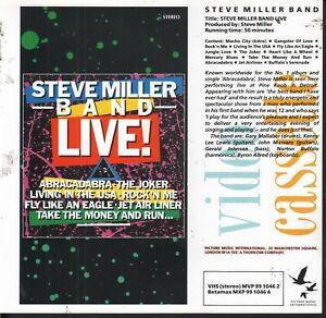 PRESS RELEASE SHEET for: Steve Miller Band Live VHS Video (1983) EX