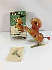 Wind Up Jumping Dog Tin Toy In Box