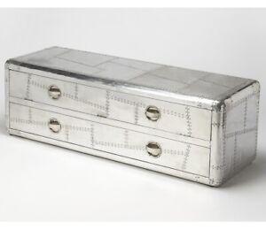 TV Stand Entertainment Aviator Aluminum Metal Solid wood TV Cabinet