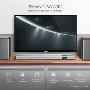BlitzWolf® BW-SDB2 XR Wireless Soundbar with 40W 2.0 Audio Channel