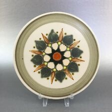 "Langley Denby Sherwood Stoneware Hand Painted 7"" Trivet England MCM"