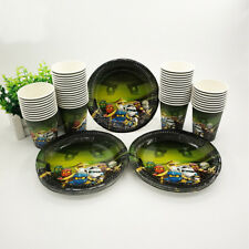 24pcs Ninjago Birthday Party Set Tableware Decorations Plate Paper Cup Favours
