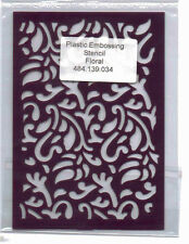 Plastic/PVC/Embossing/Stencil/Floral/Flourishes/Background/484.139.034