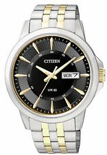 Citizen BF2018-52E Men's Two Tone Stainless Steel Black Dial Day Date Watch