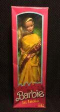 Vintage 1993 Barbie In India New In Box Doll Yellow Sari Fashion Dress 9910