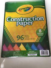 96Sheet Construct Paper,No 99-3000, Crayola Llc
