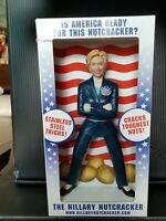 HILLARY CLINTON 2007 NUT CRACKER WITH FREE 2016 COMMERATIVE HILLARY COIN
