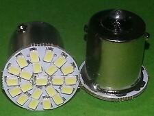 2x BA15S COLD WHITE 7000K 12V SMD P21W R5W R10W CAR LAMP LIGHT BOMBILLA BLANCO