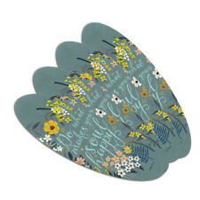 Do What Makes Your Soul Happy Double-Sided Oval Nail File Emery Board Set 4 Pack