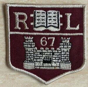 """Genuine American PRL """"RL 1967 College Castle"""" Fabric Embroidered Patch Emblem"""