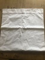 Vintage Huge White Cotton Bolster Cover with P Monograms 51 X 206cm