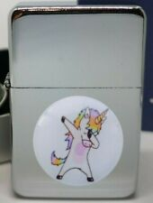 DANCING UNICORN FLIPMETAL PETROL LIGHTER