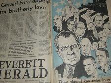 RARE ARTWORK COVER 'Nixon Resigns' Newspaper EVERETT WASHINGTON August 09, 1974