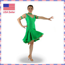 L203 Small US0-4 Latin Rhythm Salsa Show Case Competition Dance Dress Costume