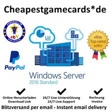 Microsoft Windows Server 2016 Standard Vollversion Produkt key per Email