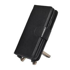 Titular de la tarjeta de Multifunción Negro Billetera Cuero Estuche Cubierta para Samsung Galaxy S4