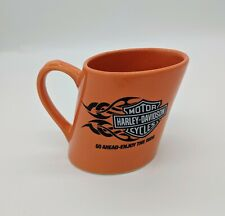 Harley Davidson Mug 2007 Orange Slanted Go Ahead Enjoy The Ride Coffee Cup