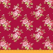 Soimoi 60 Wide Floral Printed 2-Way Stretch Velvet Fabric Fow Sewing By Metre
