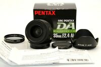 Mint Box SMC Pentax DA 35mm f/2.4 AL Wide Angle Standard Lens Hood Filter Japan