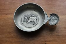 French Pewter Wine Tasting Cup Etain Rodeis Pewter Zinn Bull