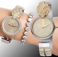 Just Cavalli Armbanduhr Damenuhr JC1L086M0045 Glam Chic Snake zweifarbig neu