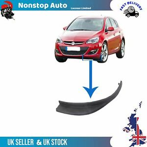 Front Bumper Splitter Extension Right Side Fits Vauxhall  Opel Astra J 13387156