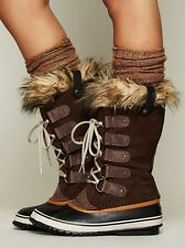 Sorel JOAN of Arctic faux FUR Women  Snow winter Boots Brown  Tobacco  10