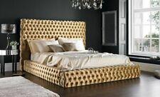 Design Pads Double Bed Beds Chesterfield Luxury Classic Bed Velvet Velvet