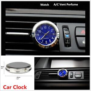 1x Car Clock A/C Vent Clip Perfume Refill Storage Reservoir Quartz Watch Styling