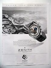 PUBLICITE-ADVERTISING :  ZENITH El primero Chronomaster 1969 Barrier 2014 Montre