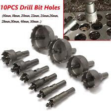 10/13PCS Carbide Tip TCT Hole Saw Cutter Drill Bit Set Steel Metal Alloy 16-53mm