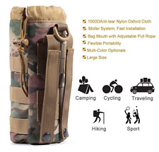 Tactical Molle Water Bottle Holder Pouches , Travel Mesh Water Bottle Bag US