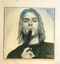 "Kurt Cobain Nirvana Rock N Roll 18""x18"" Pop Art Painting Chris Cargill"
