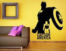 Captain America Wall Decal Vinyl Sticker Comics Superhero Home Art Decor (9c8a)