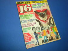16 MAGAZINE 1966 March VINTAGE TEEN MAGAZINE MUSIC TV sixteen