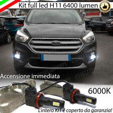 KIT FULL LED FORD KUGA MK3 LAMPADE H11 FENDINEBBIA CANBUS 6400L 6000K NO ERROR