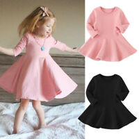 USA Kids Toddler Baby Girls Party Prom Princess Dress Sundress Clothes 1-5 Years
