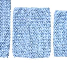 "Baby Blue Crochet Tube Top Elastic Waistband Headband Tutu 6"" 7"" 8"" 10"" inches"