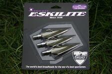 "Zwickey Eskilite, 4 Blade, Screw In Broadheads 5/16"", 135 grains, 3 pack"