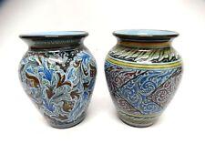 VECCHIA COPPIA di VASI ceramica MOLARONI PESARO - Marche Urbino Romagna