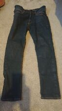 """Triumph Raw Jeans 34"""" wast, 30"""" leg D3O Hip And Knee Armour with bag."""