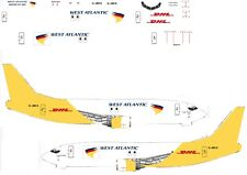 West Atlantic (DHL) 737-400 model  Airliner Decal 1:400 Scale