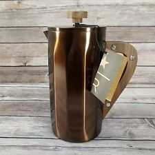 Starbucks Stainless Steel Coffee Press with Walnut Handle Copper 8 Cup NEW