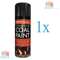 1x New Black Coal Paint Rejuvenates Gas Fire Coals BBQ Spray Gallery Paint 400ml