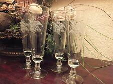 Set of 4 LA / LOS ANGELES / ANAHEIM ANGELS Stemmed Beer / Pilsner Flute / Glass