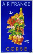 Affiche AIR FRANCE - Corse - L.Boucher 1949